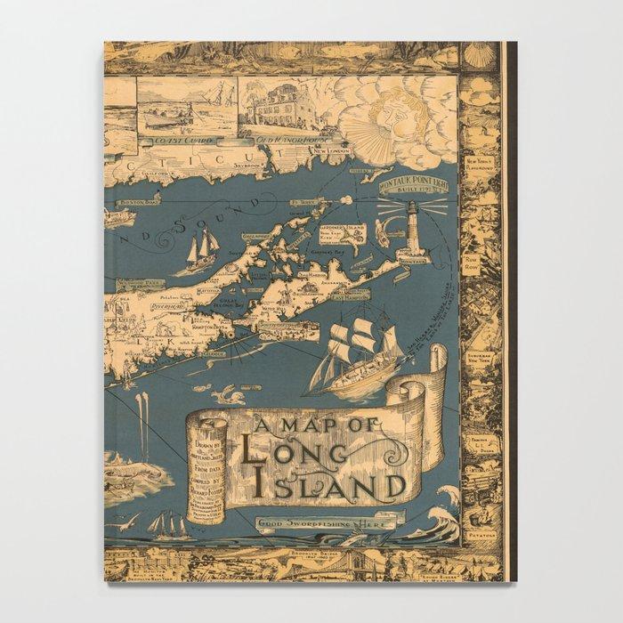 Map of Long Island Notebook