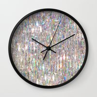 holographic Wall Clocks featuring To Love Beauty Is To See Light (Crystal Prism Abstract) by soaring anchor designs