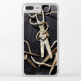 Snip Snip Clear iPhone Case