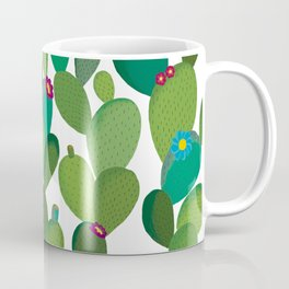 Cactus with flowers Coffee Mug