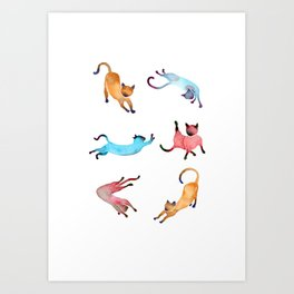 Playful Cats Art Print