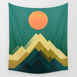 Gold Peak Wall Tapestry