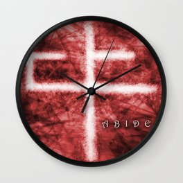 Abide Red Wall Clock