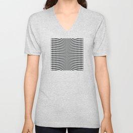 op art - dot rollers Unisex V-Neck