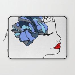 Blue Rose Headpiece Laptop Sleeve