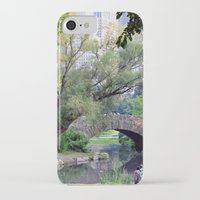central park iPhone & iPod Cases featuring Central Park by Elizabeth Chung