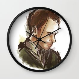 elementary: man of details Wall Clock