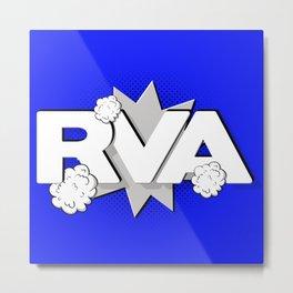 Rva Logo | ' Comic 2 Style ' Metal Print