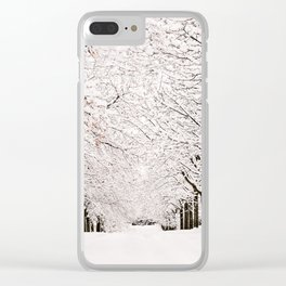 The Winter Path Clear iPhone Case