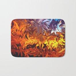 Decorative Abstract Sunset Design Bath Mat