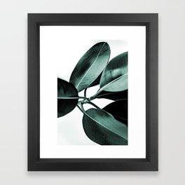 Minimal Rubber Plant Framed Art Print