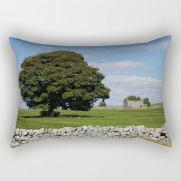 Barn and tree Rectangular Pillow