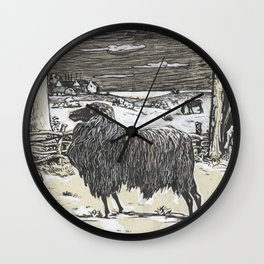 Sheep in a landscape , Richard Roland Holst, 1878 Wall Clock