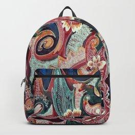 Ethnic Asian Indonesian Balinese Batik Barong Monsters Backpack