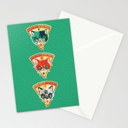 Pizza Slice Cats  Stationery Cards