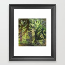 lush forest abstract Framed Art Print