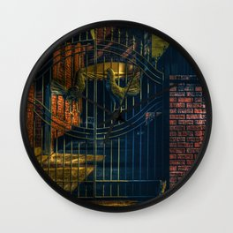 Cocks and a Cat Wall Clock