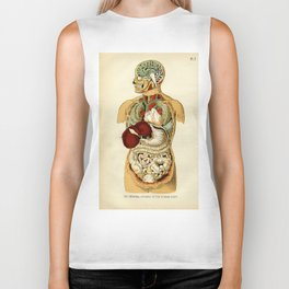 Internal organs of the Human Body Biker Tank