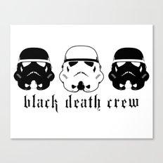 Black Death Crew Buckets Canvas Print