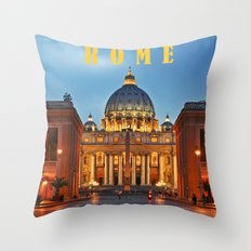 SAINT PETER'S CATHEDRALE in ROME Throw Pillow
