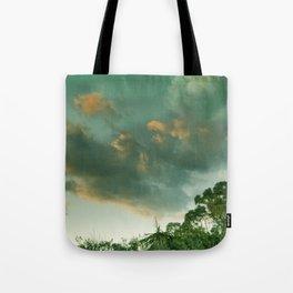 Windy sunset. Vintage Tote Bag