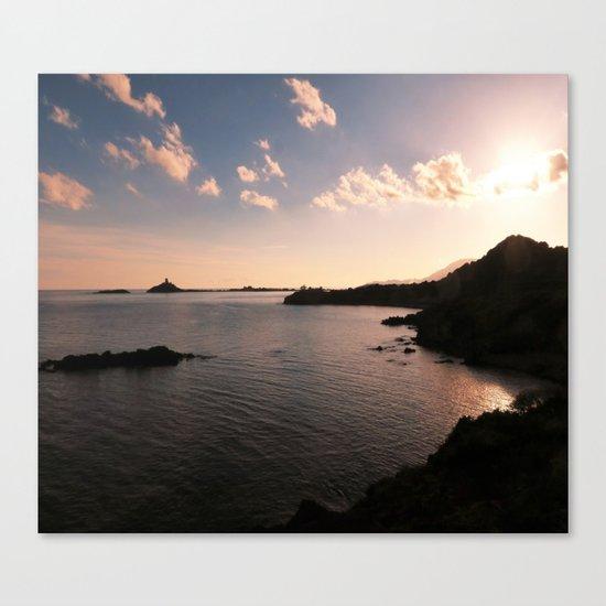 sunset in Sardinia Canvas Print
