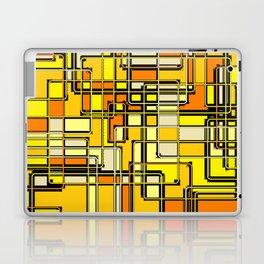 Vintage Yellow Print Laptop & iPad Skin