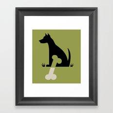 Gave a Dog a Bone (Green) Framed Art Print