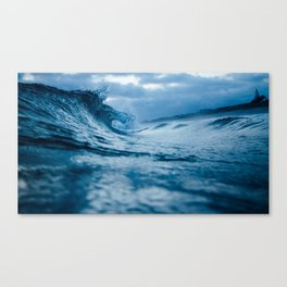 Blue Sea and Waves Canvas Print