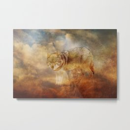 Disappearing Wolf Metal Print