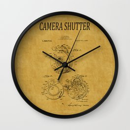 Camera Shutter Patent 1 Wall Clock