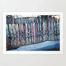 Skis Art Print