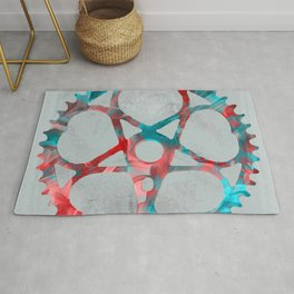 """Metal"" Sprocket Rug"