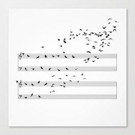 Natural Musical Notes Canvas Print