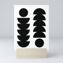 Abstract semicircles poster Mini Art Print
