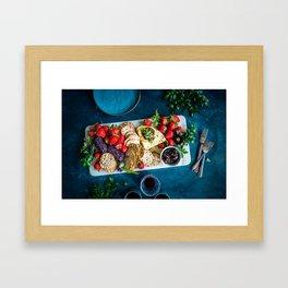 cheese platter Framed Art Print