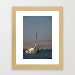 Boat in the sunlight Framed Art Print