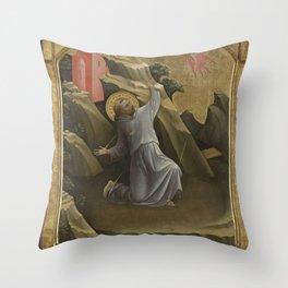 Lorenzo Monaco - Saint Francis Receiving the Stigmata Throw Pillow