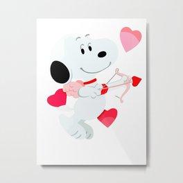 Snoopy cupid Metal Print