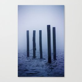 Pillars in the Mississippi Fog Canvas Print