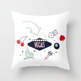 Vegas - Nevada Day Throw Pillow