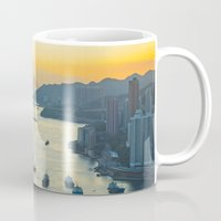 hong kong Mugs featuring Hong Kong by Rothko
