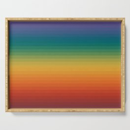 Colorful Stripes Abstract Rainbow Pattern Trendy Colors Serving Tray