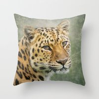 leopard Throw Pillows featuring Leopard by Pauline Fowler ( Polly470 )