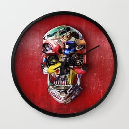 Hot Rod Skull Wall Clock
