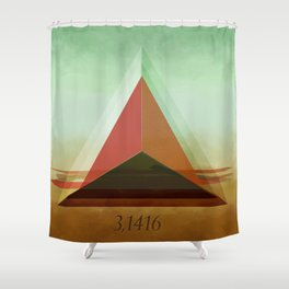 3,1416 Shower Curtain