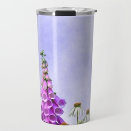 Summer flowers against a blue sky Travel Mug