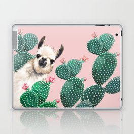 Llama and Cactus Pink Laptop & iPad Skin