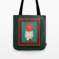 the perks of being a wallflower Tote Bags featuring Wallflower by Lindsay Beach