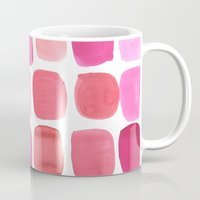 lipstick Mugs featuring Lipstick by Amy Sia